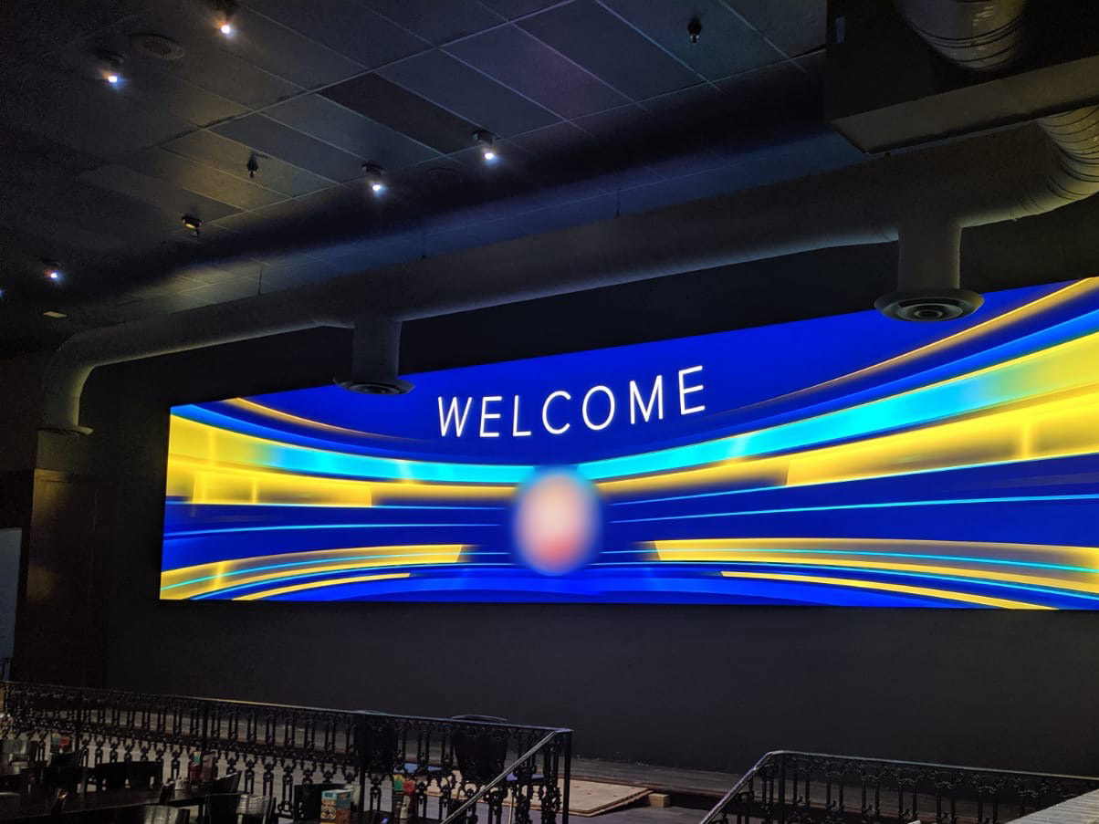 Custom-Mounted Direct View LED Display