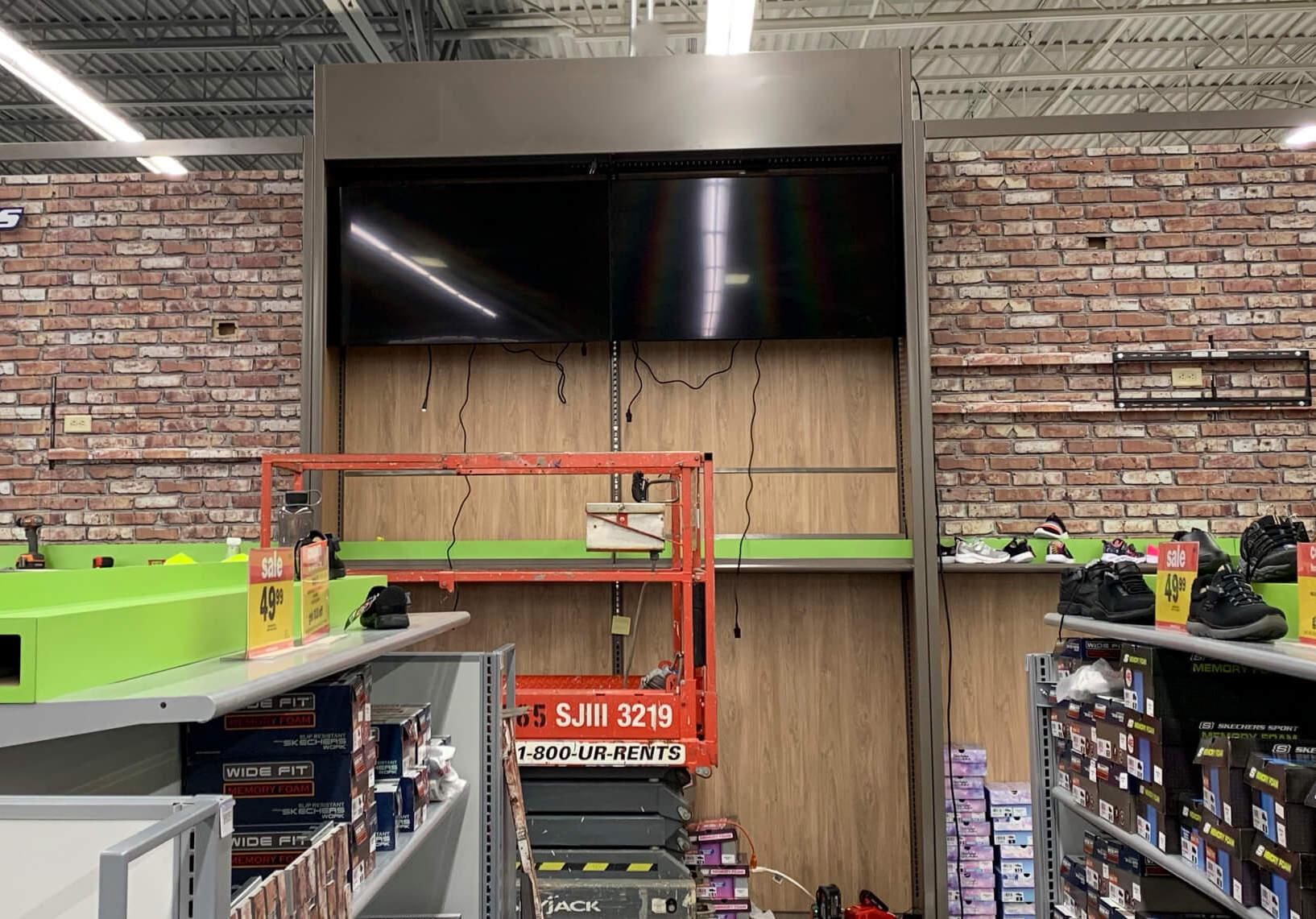 Digital Signage Retail Installation